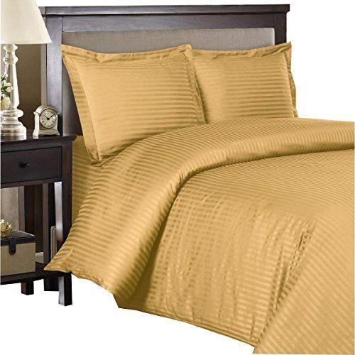 Royal Hotel Stripe Gold 3pc King California King Comforter Cover Duve Duvet Cover Sets 100 Cotton Duvet Covers Bed Sheet Sets