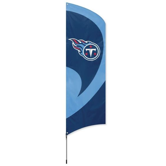 Tennessee Titans NFL Applique & Embroidered Tall Team Flag (102x30)