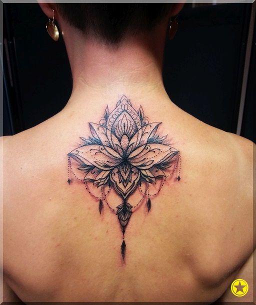 Mandala Kwiat Lotosu Tatuaż Tatuaże Kobiece Tatuaże