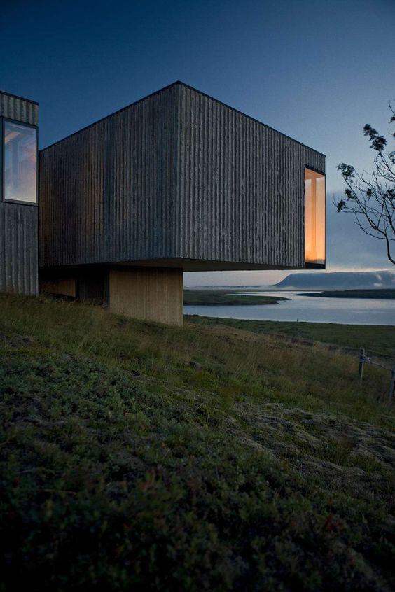 Árborg by PK Arkitektar, Selfoss, Iceland. Black Box Buildings Loom Large Among…