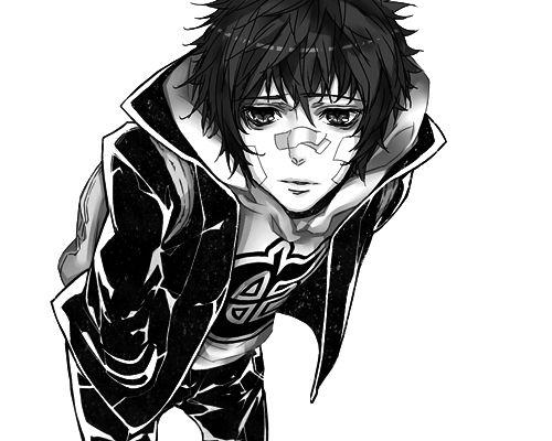 Anime Boy ~ Black And White