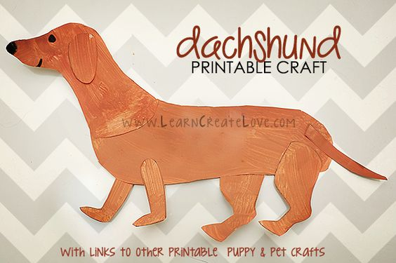 Printable Dachshund Craft