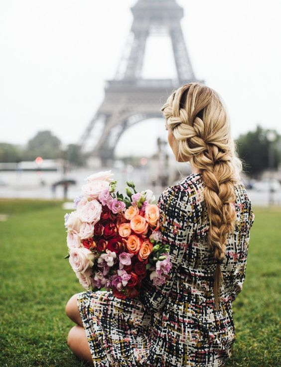 French Braid: These perfectly-imperfect Parisian plaits are your new go-to 'do for those windy, wintry days. Have you teased it 'til your arms hurt and still can't get your braid to look like this? Layer in extensions to zhush up the volume and length.