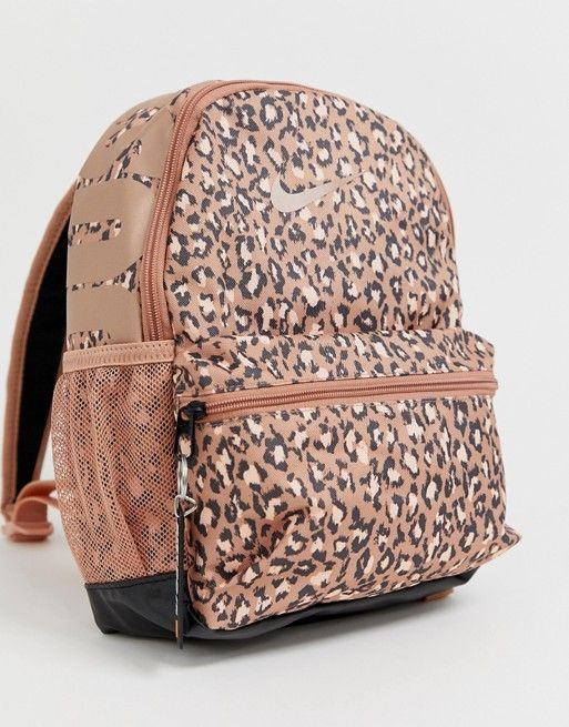authorized site classic shoes really cheap Nike leopard print just do it mini backpack in 2019 ...