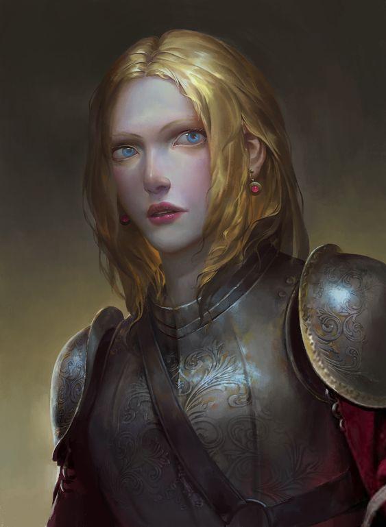 女骑士, zhang bo on ArtStation at https://www.artstation.com/artwork/6ky45