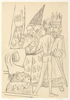 Astrolog spricht, Mephistopheles bläst ein. 1. Akt: Kaiserliche Pfalz. Saal des Thrones