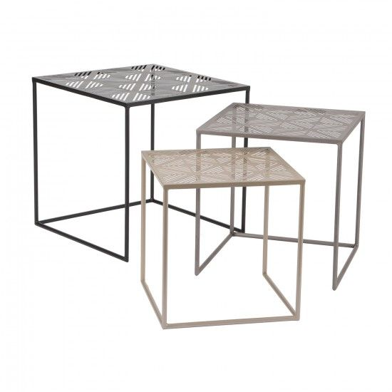 3 Pc Side Table Set By Korb Designed In France Monoqi