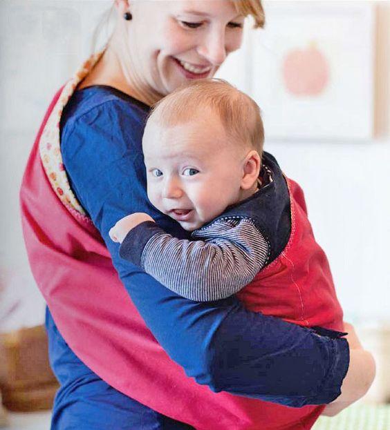 Last-Minute-Baby-Tragetuch nähen