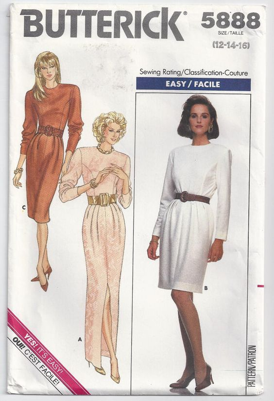 Dress With Fitted Bodice Shoulder Pads And Front Or by Rosie247, $5.99