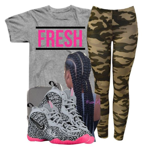 """""""Be on fleek"""" by deasia-still-thugin-honey ❤ liked on Polyvore featuring Schönheit, Sessions und NIKE"""