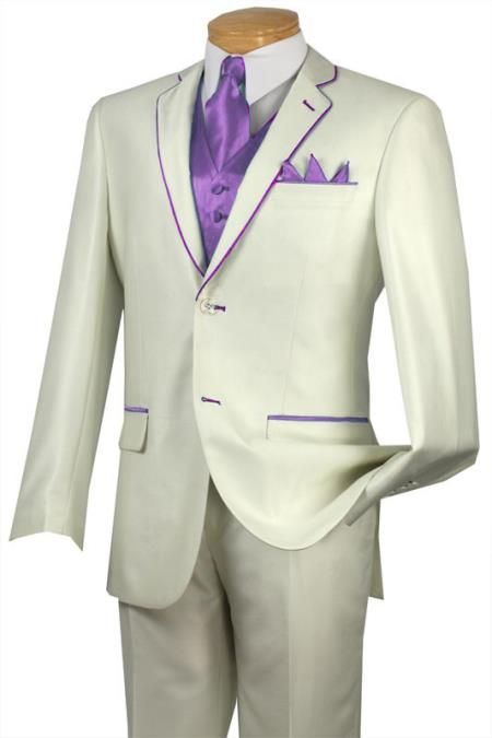 white and lavender tuxedo | Wedding Stuff | Pinterest | Lavender