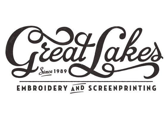 Great Lakes, handlettering by Neil Tasker