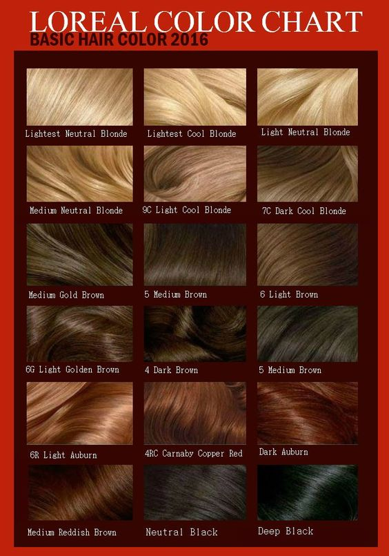 Hair Color Chart Loreal Hair Color Chart Hair Color Chart Loreal Hair Color