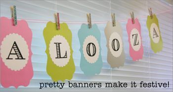 This Card Frame Pinnovation die used as a hanging word banner is one of our favorites!