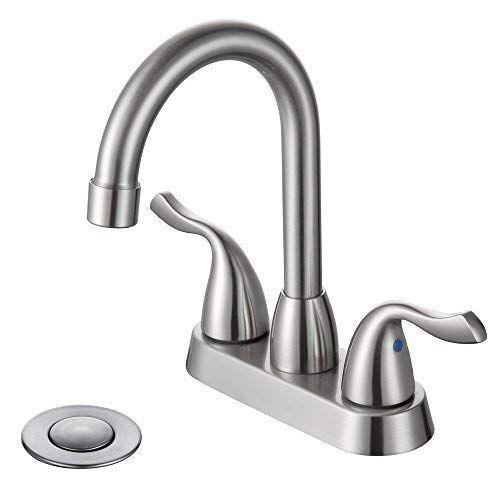 Desfau 360 Degree Swivel Bathroom Faucet Chrome High Arc 4 Inch