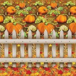 Scenesetter Herfstsfeer -  Een wanddecoratie te gebruiken als achtergrond voor tijdens een najaar (herfst)feest. Deze kunt u gebruiken in combinatie met andere wanddecoraties om in de juiste sfeer te komen. Afmeting: 900 x 120cm.   www.feestartikelen.nl