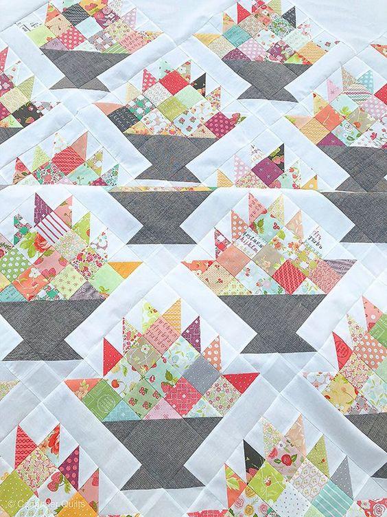 Happy Scrappy Baskets Quilt PDF pattern 148 | Etsy