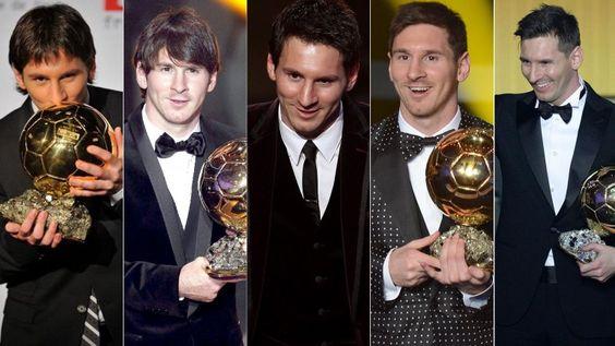 Lionel Messi delató su corazón argentino en cada uno de sus cinco Balones de Oro