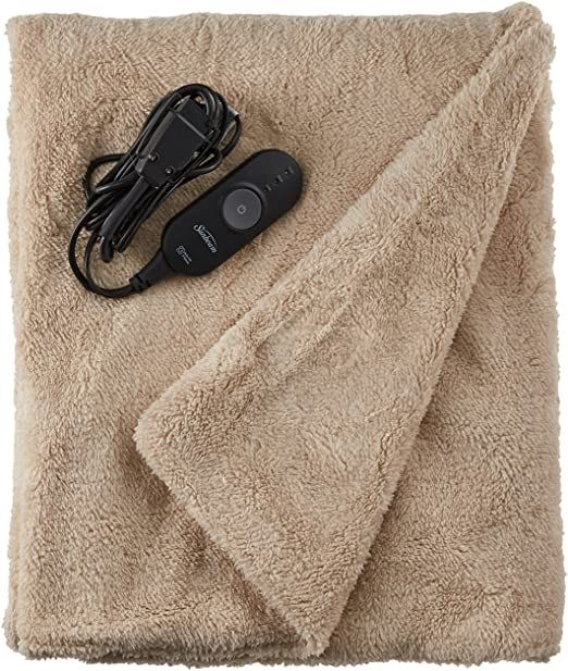 Sunbeam Heated Throw Blanket Lofttec 3 Heat Settings Sand Tsl8ts R783 31a00 In 2020 Heated Throw Blanket Heated Throw Throw Blanket