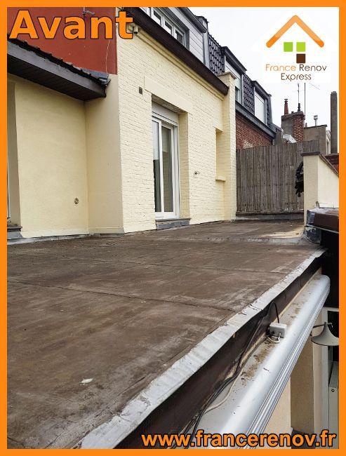 Toiture Terrasse En Pin Sur Plots à Saint André Lez Lille