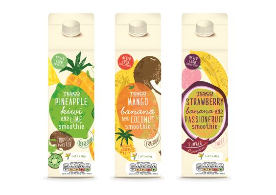 Tesco turns to Parker Williams to create 'bright, contemporary' packaging for new Smoothie range:
