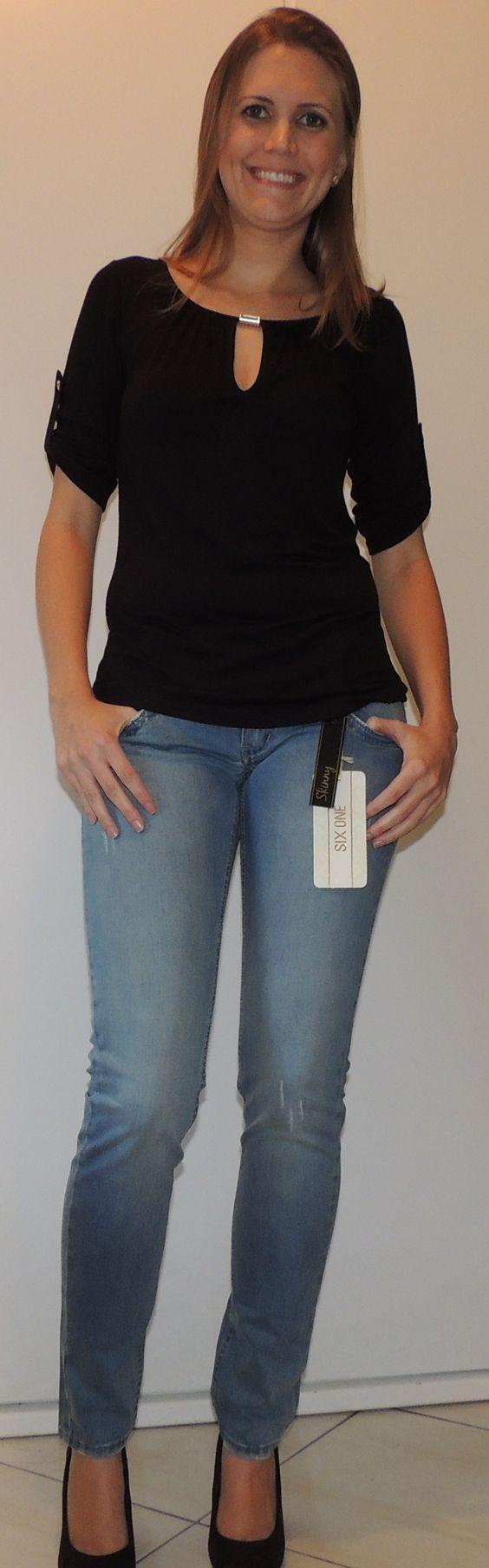 Blusa tamanho M Calça Jeans tamanhos 36 ao 46