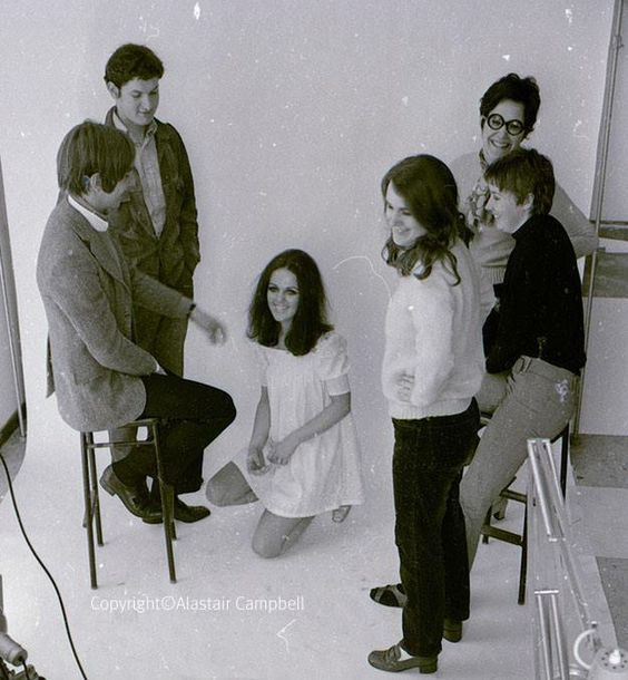 Alan Rickman, Nick Cudworth & some mates at Chelsea School of Art in the 60s - photoshoot by Alastair Campbell: