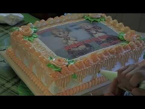 Receitas Bom Sabor 25/03/2013 Emilia Yashiki Capua - Confeitando bolos com chantily - YouTube