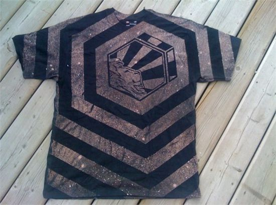 Duct tape and bleach shirt
