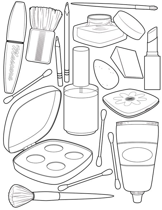 Makeup Coloring Pages