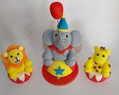 Standing Elephant Zoo, Safari, or Circus Cake Topper. $10.50, via Etsy.