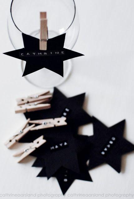 stars + clothespin
