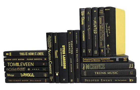 Retro Black & Yellow Book Set Set of 20 Booth & Williams
