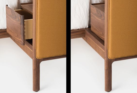 Details of Low Dubois Bed by Nichetto