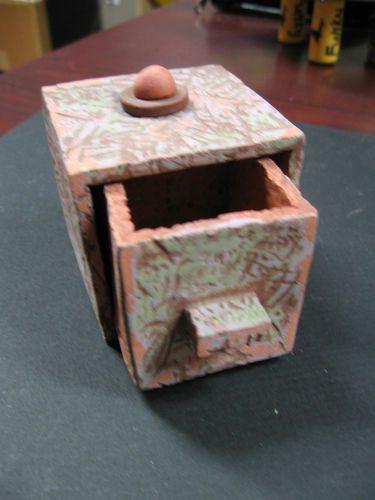 Ceramic Box Handmade Sculpture Made by Cleveland Artist Yansencheck