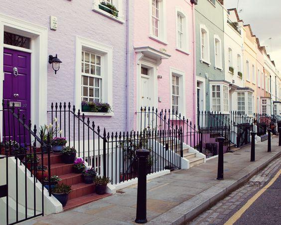 Notting Hill street - Londonby © Irene Suchocki    via ysvoice: fuckitandmovetolondon: britain-land-of-hope-and-glory