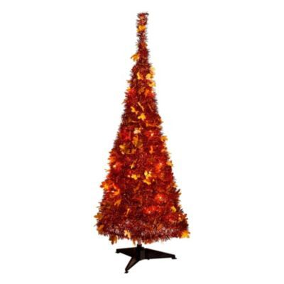 A Festive 4-Ft. Harvest Pull-Up Tree