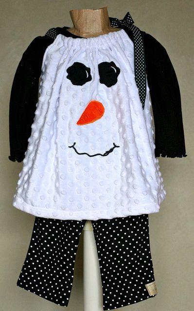 Super cute snowman dress