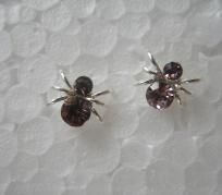 Crystal Spider Studs Purple