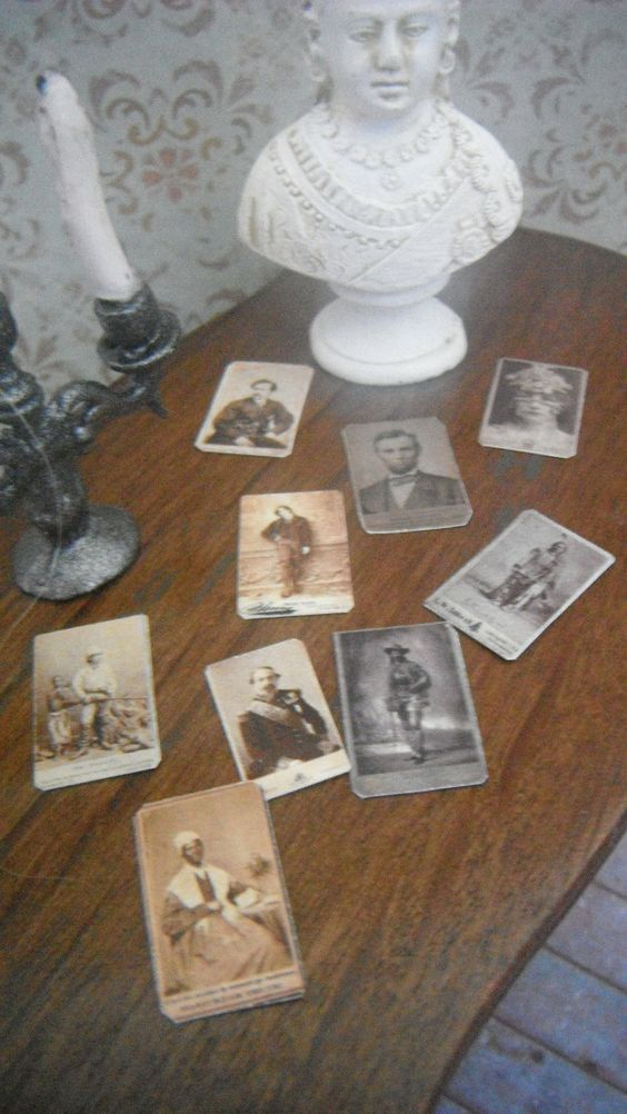 Miniature Cabinet Cards, 19th Century Celebrities... 4.50, via Etsy. {Popular to collect from 1859 thru the Victorian Era.}
