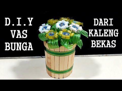 Cara Membuat Vas Bunga Cantik Dari Kaleng Bekas Stik Es Krim Youtube Vas Bunga Cantik Bunga