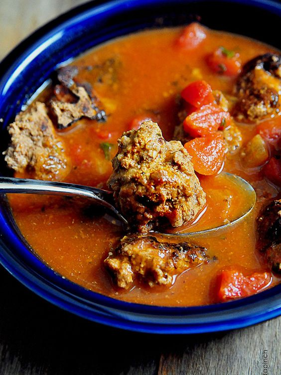 Skinny Slow Cooker Kale and Turkey Meatball Soup Recipe Turkey