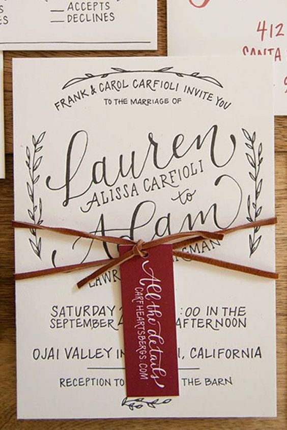 18 Rustic Wedding Invitations To Impress Your Guests ❤ Rustic wedding invitations with elements of wood, natural sprigs, kraft paper, and lace. See more: http://www.weddingforward.com/rustic-wedding-invitations/ #weddings #invitations
