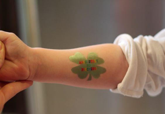 DIY shamrock tattoo