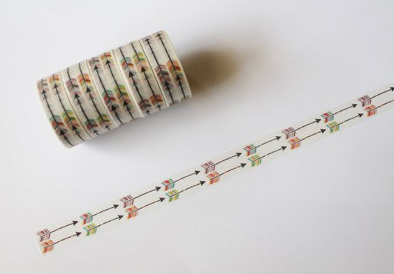 Double Row Arrows Washi Tape Rolls by LetsWashi on Etsy