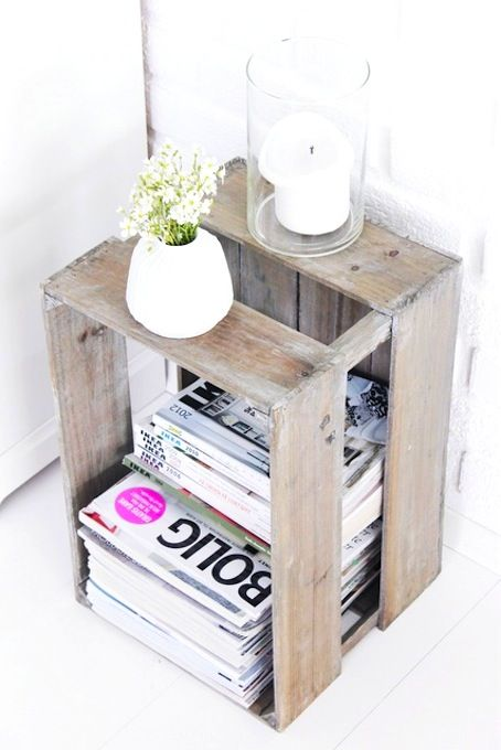 home inspiration: DIY BEDSIDE TABLE | bellaMUMMA: