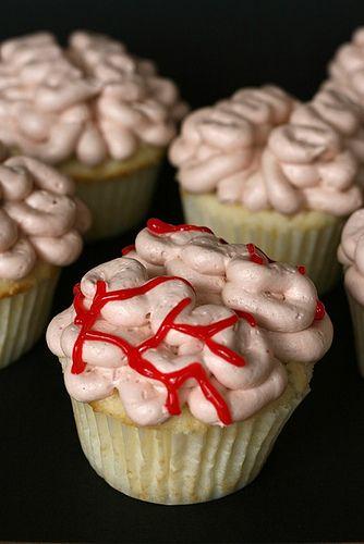 brain cupcakes: