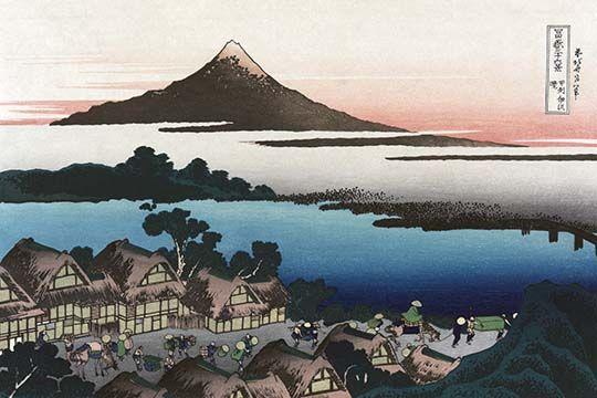 Dawn At Isawa In Kai Province By Katsushika Hokusai Art Print 9785872328117 Buyenlarge Japaneseprints Katsus Hokusai Paintings Hokusai Local Photography