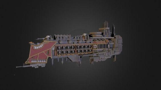Warhammer 40k: Imperial Battleship by Roddan