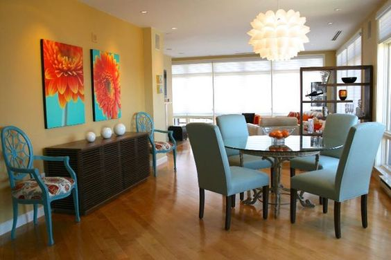 Turquoise kitchen with orange accent white cabinets - Kitchen with orange accents ...